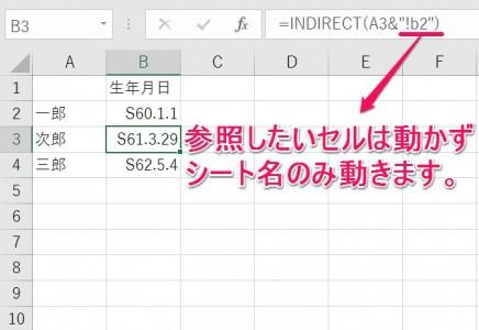 INDIRECT関数4